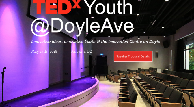 TEDx Event in Kelowna: May 17th