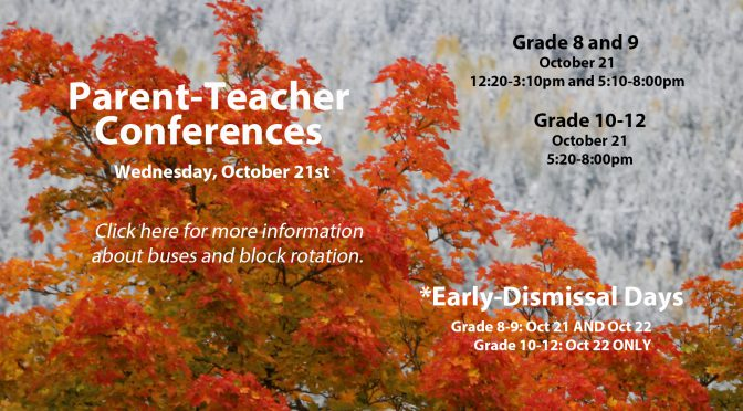 Parent-Teacher: Oct 21